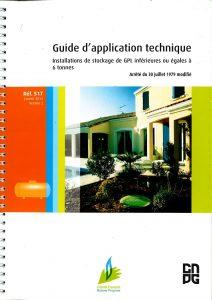 """Guide d'application technique """" Installations de stockage de GPL inférieures ou égales à 6 tonnes """""""
